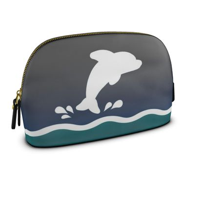 Large Premium Nappa Make Up Bag - Dolphin