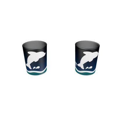 Round Shot Glass 2 Set - Dolphin
