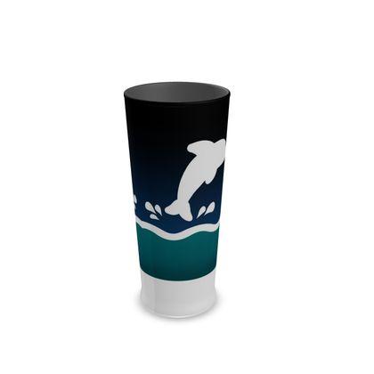 Half Pint Glass - Dolphin