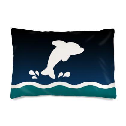 Silk Pillow Case - Dolphin