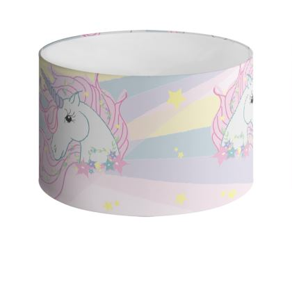 Unicorn Drum Lamp Shade