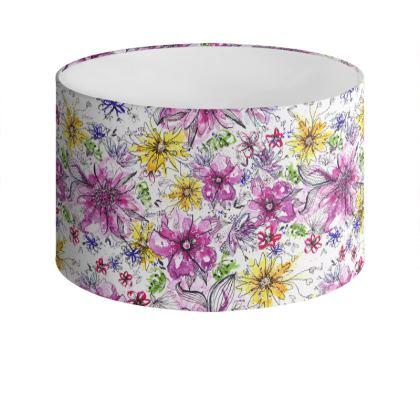 Summer Floral Drum Lamp Shade