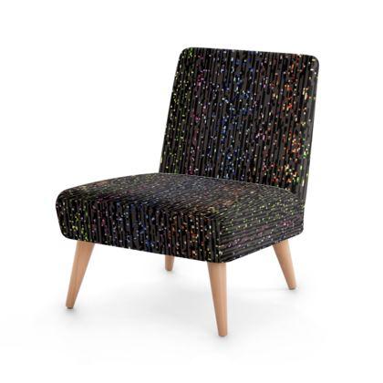 Cabaret Night - Cushions - glitter black, sparkling sparks, scintillant, rainbow gift, iridescent, lurex, glamorous sheen, brilliant chic, Bohemian, spectacular, magical - design by Tiana Lofd
