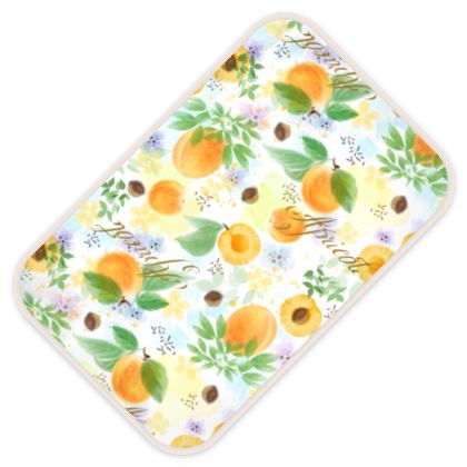 Little sun - Baby Changing Mats - fruit design, apricots, sunny, orchard, yellow, bright, natural food, garden, hand-drawn floral, summer gift - design by Tiana Lofd