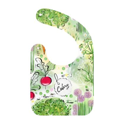 Garden harvest - Baby Bibs - Gardening, vegetables, carrots, green, countryside, vegetarianism, greenery, agricultural plants, gardening, gardener gift - design by Tiana Lofd