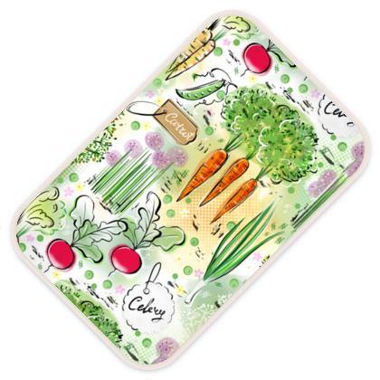 Garden harvest - Baby Changing Mats - Gardening, vegetables, carrots, green, countryside, vegetarianism, greenery, agricultural plants, gardening, gardener gift - design by Tiana Lofd