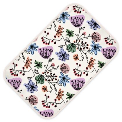 Wild flowers - Baby Changing Mats - floral, large scale, hand drawing, colored spots, graphical, artistic, botanical, blossom, blooming plants, summer gift - design by Tiana Lofd