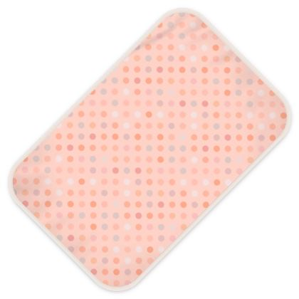 Baby Changing Mats - Silky dots - Peach polka dot, powdery pink and silky, feminine vintage, girly, lovely gift, baby, kids - design by Tiana Lofd