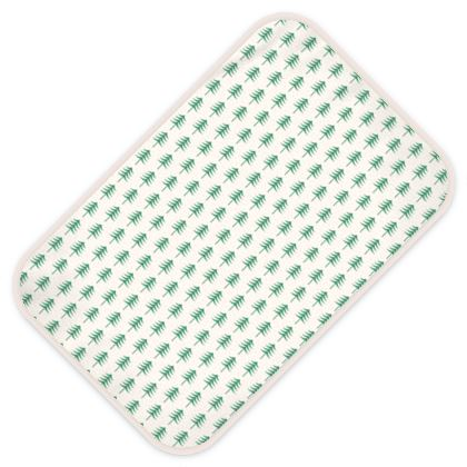 Baby Changing Mats - Take a hike - Woods, ecological, eco friendly gift, light, green and white, spruce forest, fir-trees, natural, nature, elegant, wildlife, minimalist - design by Tiana Lofd
