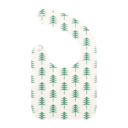 Baby Bibs - Take a hike - Woods, ecological, eco friendly gift, light, green and white, spruce forest, fir-trees, natural, nature, elegant, wildlife, minimalist - design by Tiana Lofd