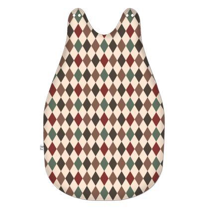 Autumn diamonds - Baby Sleeping Bag - rhombuses, beige warm palette, geometric, fall gift