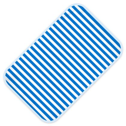 Vacation by the sea - Baby Changing Mats - Horizontally striped, white and blue stripes, marine, resort, coast, beach, classic, elegant gift, seaside vacation, sea, maritime - Design by Tiana Lofd