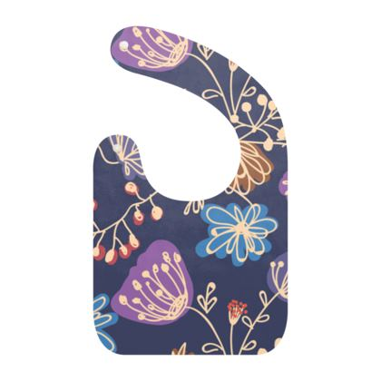 Night flowers - Baby Bibs -design by Tiana Lofd