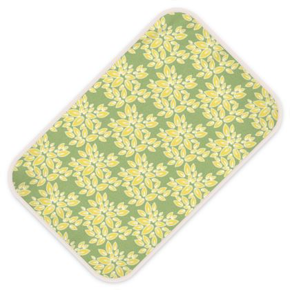 Leaf lace - Baby Changing Mats - floral, yellow green leaves, pistachio, lime lemon blossom, spring burgeon, fresh, nature, greenery, summer gift - design by Tiana Lofd