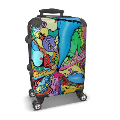 """Suitcase """"Melted Fantasia"""""""