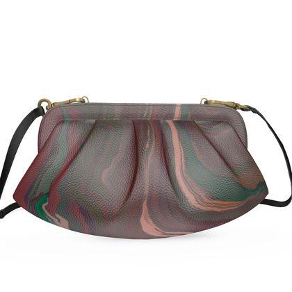 Large Pleated Soft Frame Bag