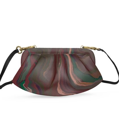 Small Pleated Soft Frame Bag