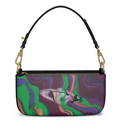 Medium Zip Box Bag - Colours of Saturn Marble Pattern 2