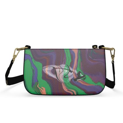 Small Zip Box Bag - Colours of Saturn Marble Pattern 2