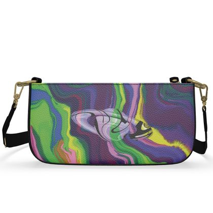 Medium Zip Box Bag - Colours of Saturn Marble Pattern 3