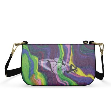 Small Zip Box Bag - Colours of Saturn Marble Pattern 3