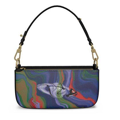 Medium Zip Box Bag - Colours of Saturn Marble Pattern 4