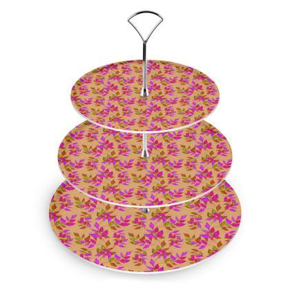 Cake Stand Pink, Butterscotch, Nature  Slipstream  Butterscotch
