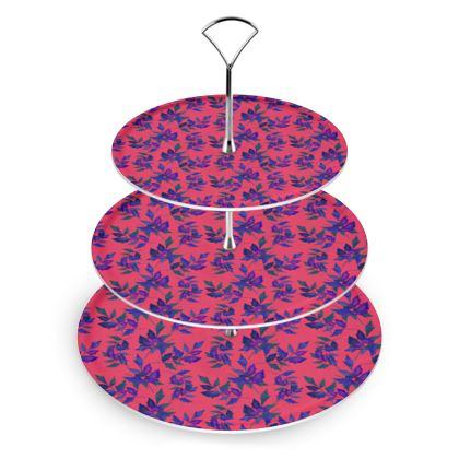 Cake Stand, Red, Blue, Leaf  Slipstream  Berries