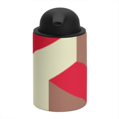 Heart in a cube - Soap Dispenser - Abstract geometry, red, contrasting, bright, elegant, statement, futuristic, spectacular, graphic, noble, asymmetrical, effective, stylish gift - design by Tiana Lofd