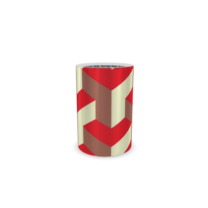 Heart in a cube - Wine Bottle Cooler - Abstract geometry, red, contrasting, bright, elegant, statement, futuristic, spectacular, graphic, noble, asymmetrical, effective, stylish gift - design by Tiana Lofd