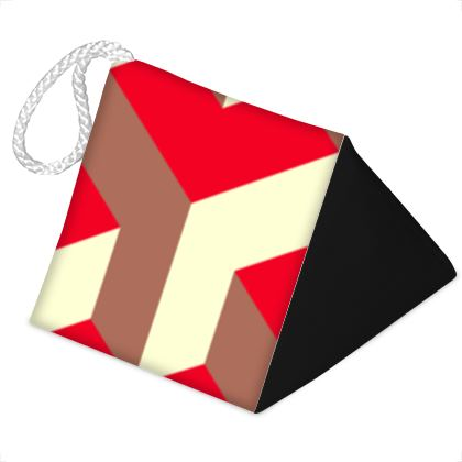 Heart in a cube - Door Stopper - Abstract geometry, red, contrasting, bright, elegant, statement, futuristic, spectacular, graphic, noble, asymmetrical, effective, stylish gift - design by Tiana Lofd