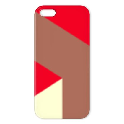Heart in a cube - iPhone Cases - Abstract geometry, red, contrasting, bright, elegant, statement, futuristic, spectacular, graphic, noble, asymmetrical, effective, stylish gift - design by Tiana Lofd