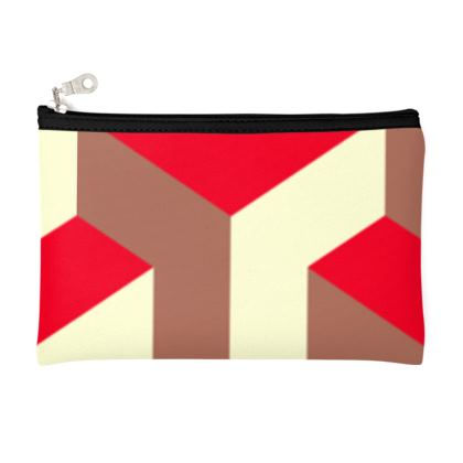 Heart in a cube - Zip Top Pouch - Abstract geometry, red, contrasting, bright, elegant, statement, futuristic, spectacular, graphic, noble, asymmetrical, effective, stylish gift - design by Tiana Lofd