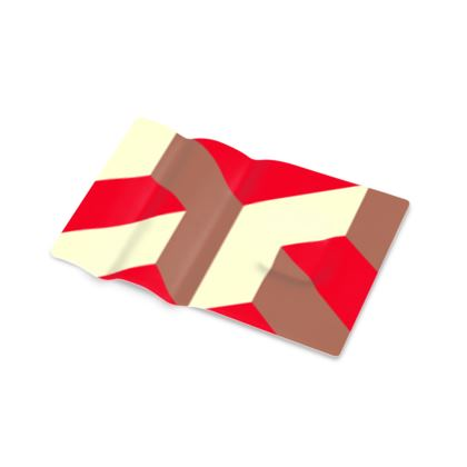 Heart in a cube - Printed Pen Tray - Abstract geometry, red, contrasting, bright, elegant, statement, futuristic, spectacular, graphic, noble, asymmetrical, effective, stylish gift - design by Tiana Lofd