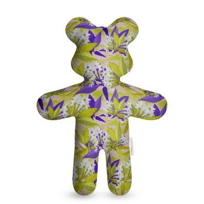 Teddy Bear, Yellow, Blue Flowers  Jasmine  Golden Wheat