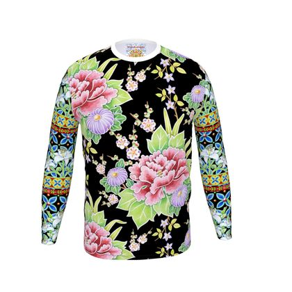 Peonies and Lilies Men's Long Sleeve T shirt