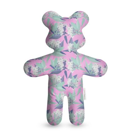 Teddy Bear Mauve, White, Flowers  Jasmine  Dreamy Lilac