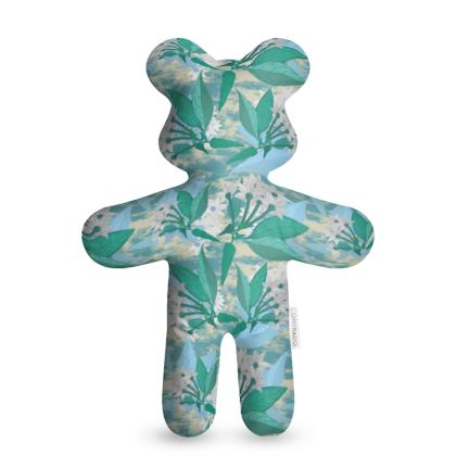 Teddy Bear, Turquoise, White, Flowers  Jasmine  Turquoise Pool