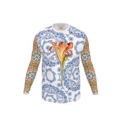 Blue Rhapsody Day Lily Men's Long Sleeve T Shirt