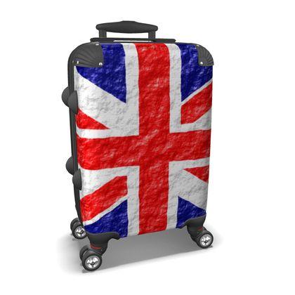 Suitcase Union Jack Flag