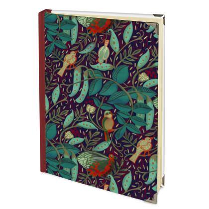 Journal intime ou cahier de notes jardin médiéval