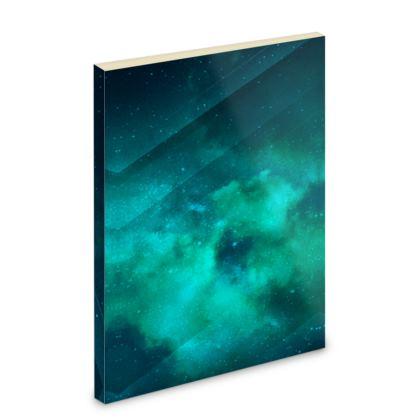 Pocket Note Book - Emmeline Anne Sky Stationery - Green Clouds