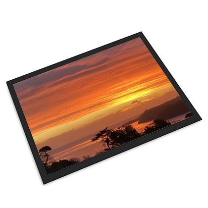 Sunrise over falmouth Bay from the Helford Door Mat