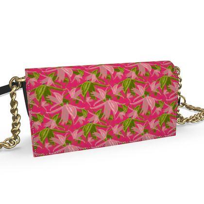 Oana Evening Bag, Pink, Green, Flower  Alpina  Candyfloss