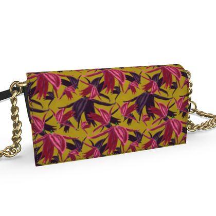 Oana Evening Bag, Pink, mustard,  Alpina  Samurai