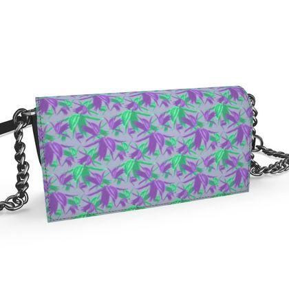 Oana Evening Bag Mauve, Green, Floral,  Alpina  Mauve Mystery