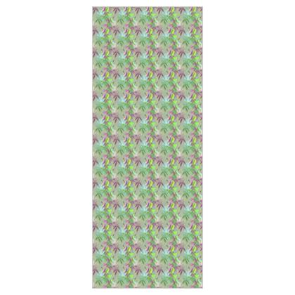 Wallpaper Mauve, Green, Floral  Passionflower  Moss