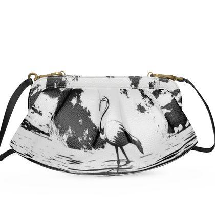 Large Pleated Soft Frame Bag - Flamingo