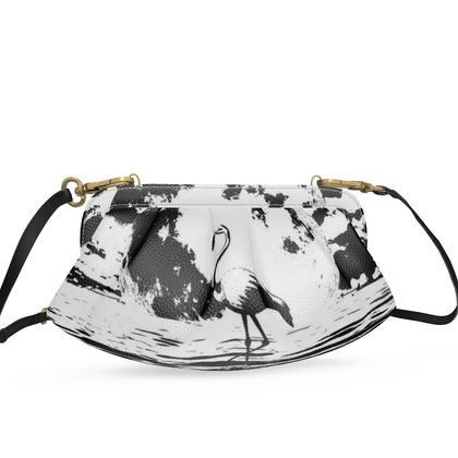 Small Pleated Soft Frame Bag - Flamingo