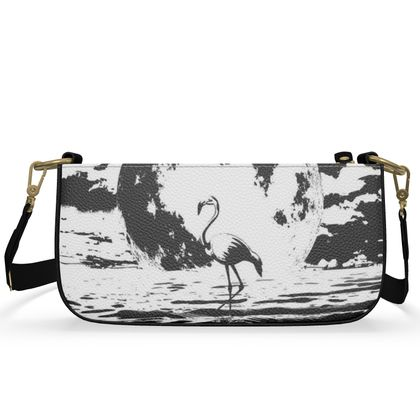 Medium Zip Box Bag - Flamingo